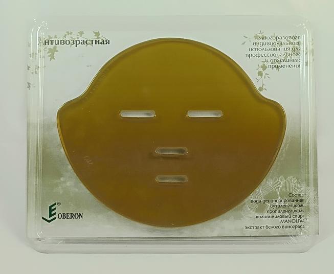 ЛИКОБЕРОН Гидрогелевая маска-аппликатор антивозрастная с экстр. белого винограда и оливы 1шт