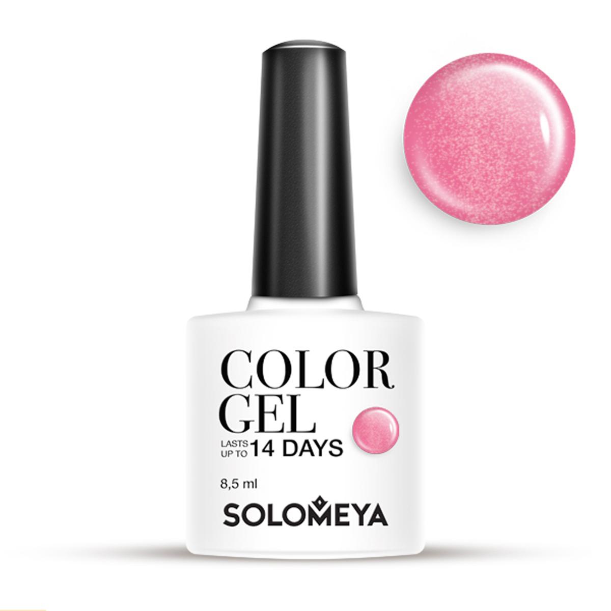 SOLOMEYA Гель-лак для ногтей SCG097 Розовый / Color Gel Rosе 8,5мл