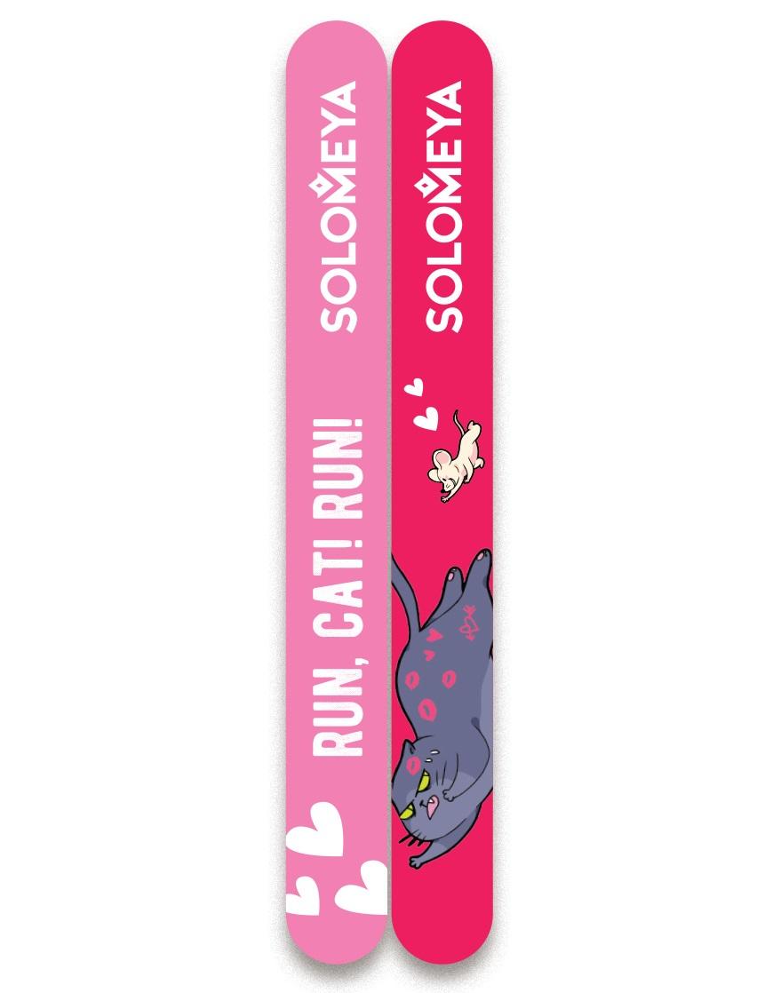 Купить SOLOMEYA Набор пилок для натуральных и искусственных ногтей 180/220 / Run, Cat! Run!, 2 шт