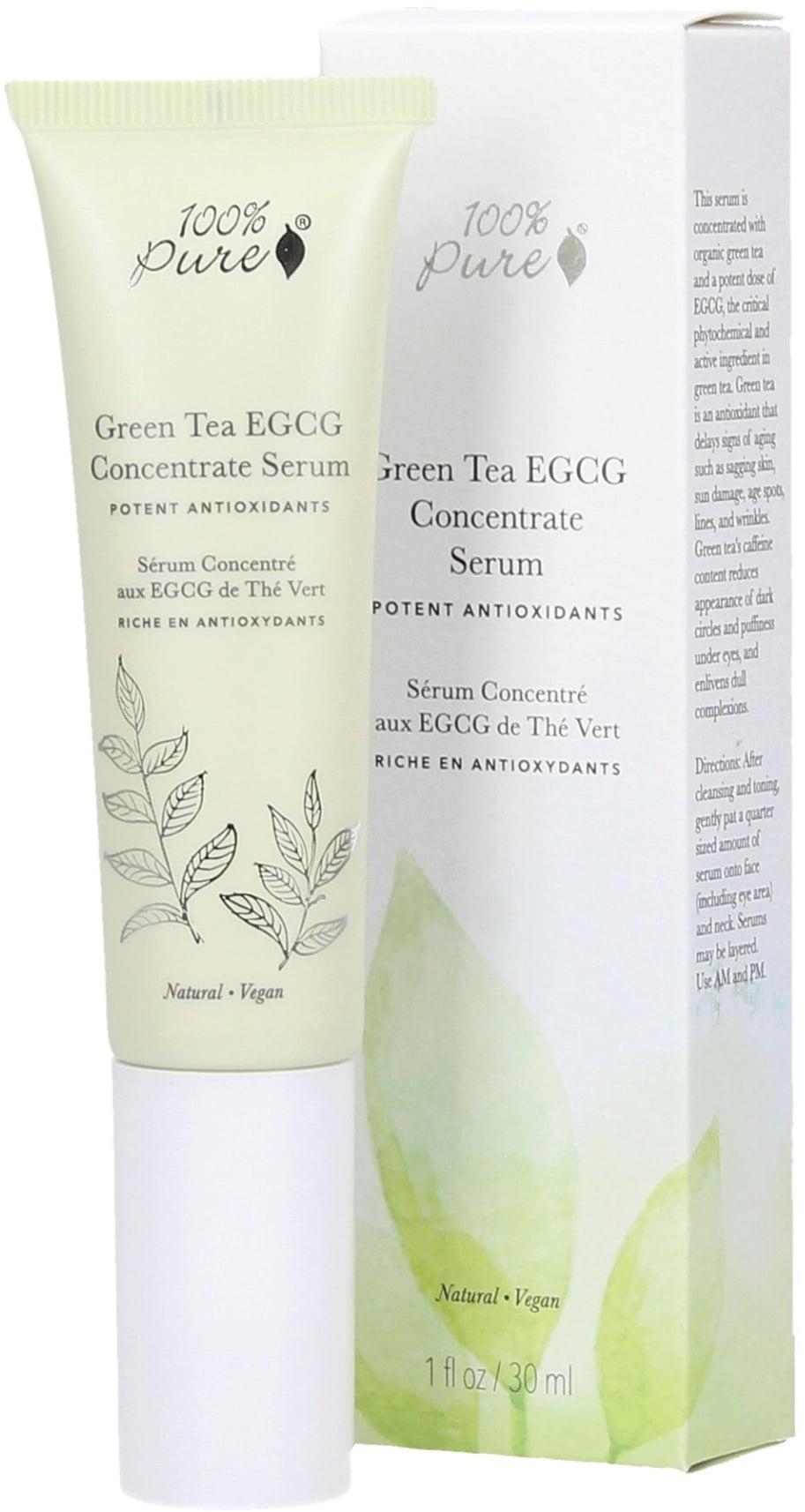 100% PURE Сыворотка органическая концентрированная для лица Антиоксиданты зеленого чая 30 мл