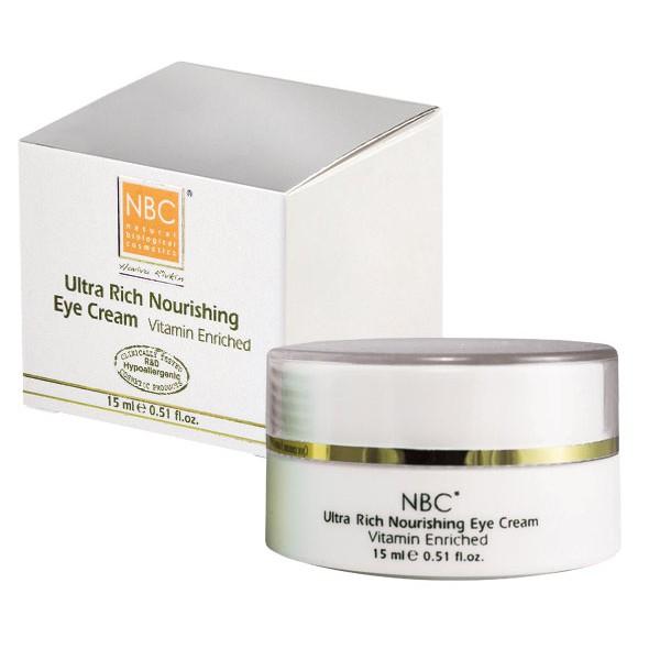 NBC Haviva Rivkin Крем ночной для век / Ultra Rich Nourishing Eye Cream 15млКремы<br>Крем-маска для кожи век содержит усиленный комплекс витаминов и натуральных компонентов, которые питают и восстанавливают структуру кожи, восполняя дефицит питательных веществ. Замедляет процессы старения и разглаживает уже имеющиеся морщинки, придавая упругость и эластичность коже вокруг глаз.Активные ингредиенты: масло сладкого миндаля, ланолин, масло жожоба, масло какао, ретинола пальмитат, токоферола ацетат.Способ применения: можно использовать как крем-маску: нанести на 15 минут и снять салфеткой или как крем утром и вечером.<br><br>Тип: Крем-маска<br>Типы кожи: Чувствительная<br>Время применения: Ночной