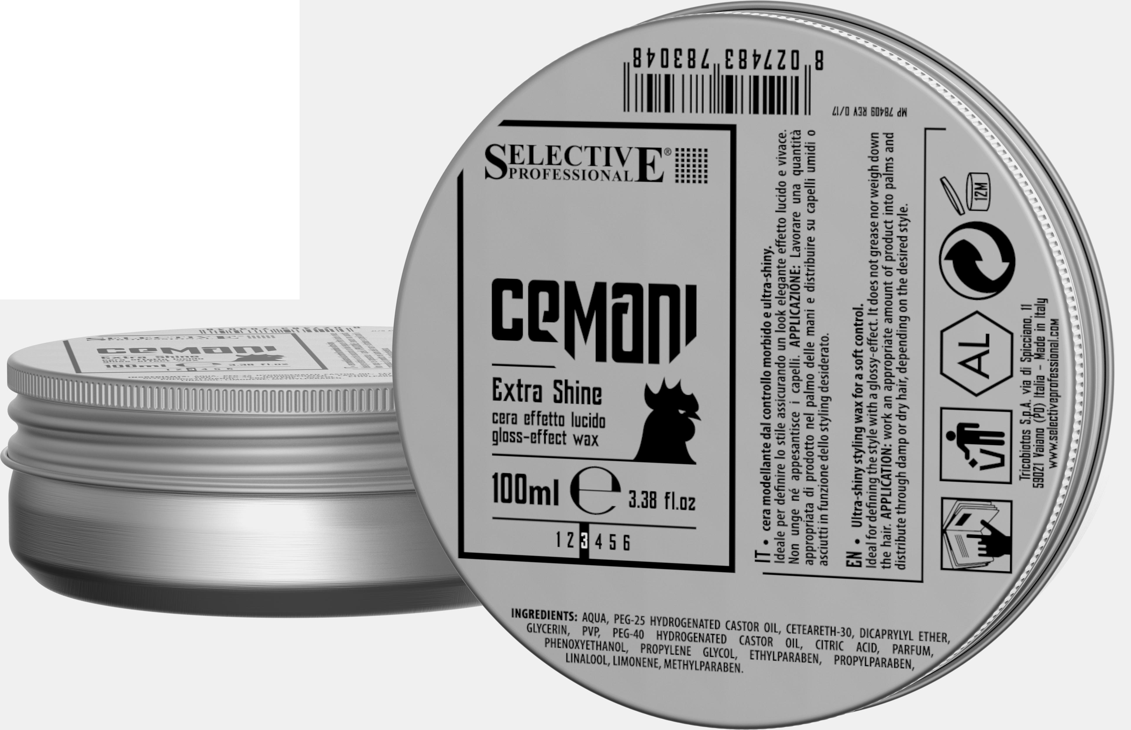 SELECTIVE PROFESSIONAL Воск с глянцевым эффектом для волос / Extra Shine CEMANI 100 мл