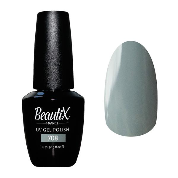 BEAUTIX 708 гель-лак для ногтей 15 мл, Серые  - Купить