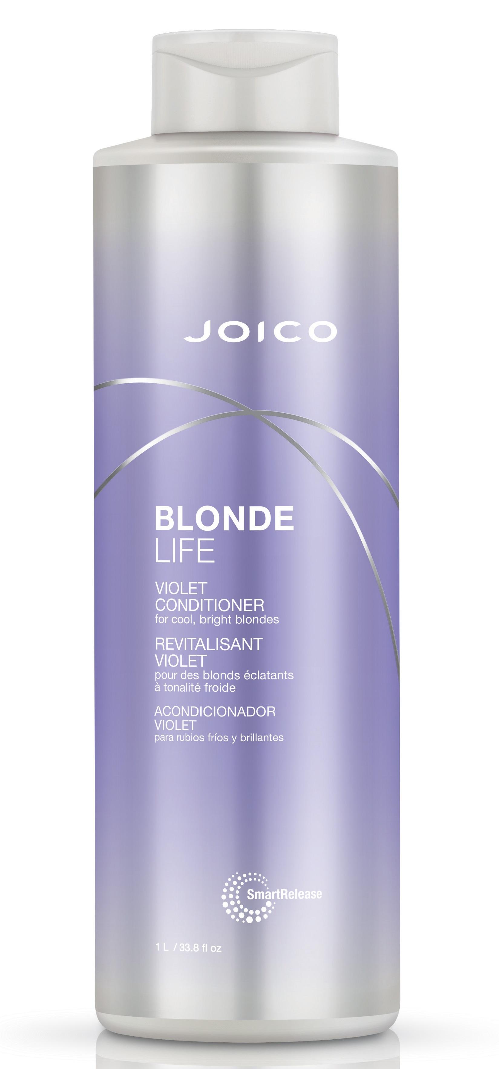 JOICO Кондиционер фиолетовый для холодных ярких оттенков блонда / Blonde Life Violet Conditioner 1000 мл.