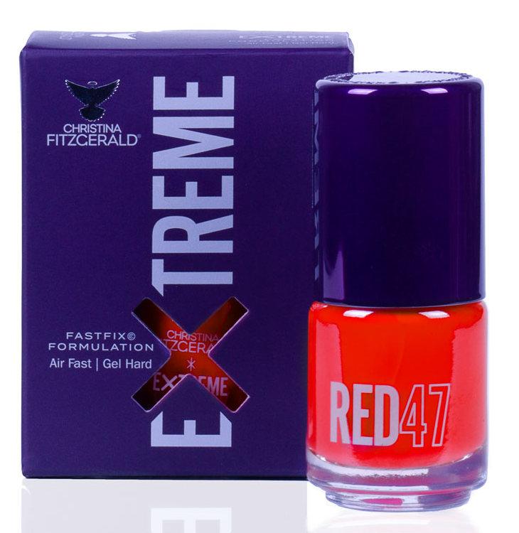 Купить CHRISTINA FITZGERALD Лак для ногтей 47 / RED EXTREME 15 мл, Красные