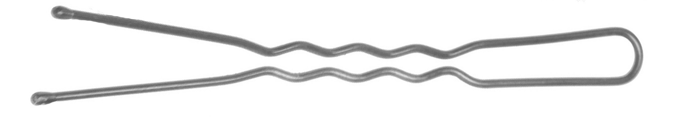 DEWAL PROFESSIONAL Шпильки серебристые, волна 60 мм, 60 шт/уп (на блистере)