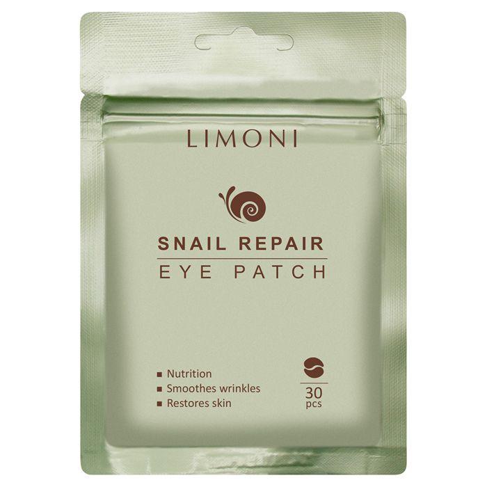 Купить LIMONI Патчи для век восстанавливающие с экстрактом секреции улитки / Snail Repair Eye Patch 30 шт