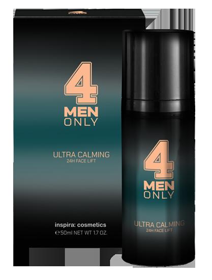 Купить INSPIRA COSMETICS Крем-лифтинг успокаивающий 24-часового действия для лица / 4 Men Only 50 мл