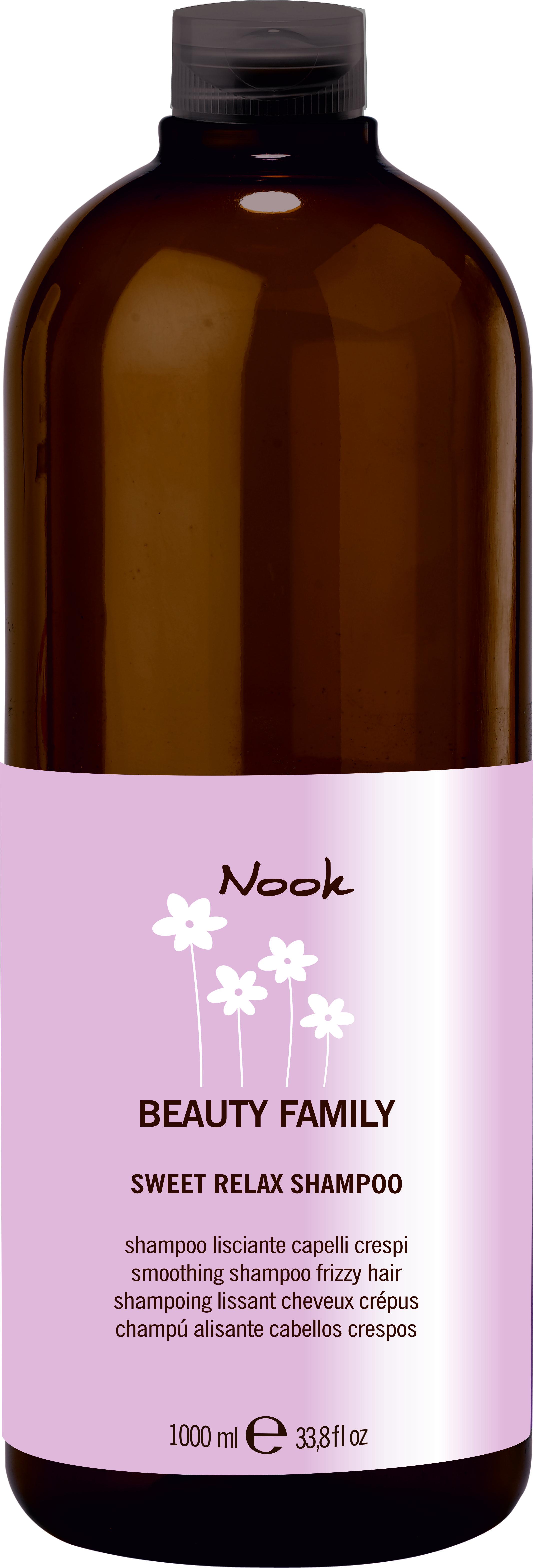 NOOK Шампунь для непослушных волос Ph 5,5 / Sweet Relax Shampoo BEAUTY FAMILY 1000мл
