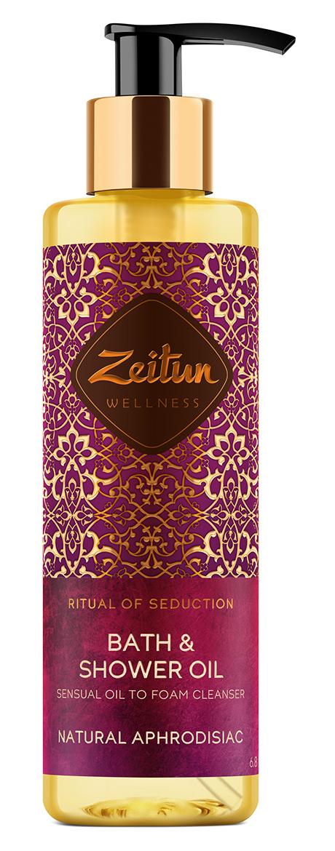 Купить ZEITUN Масло гидрофильное чувственное для душа Ритуал соблазна / Seduction 200 мл