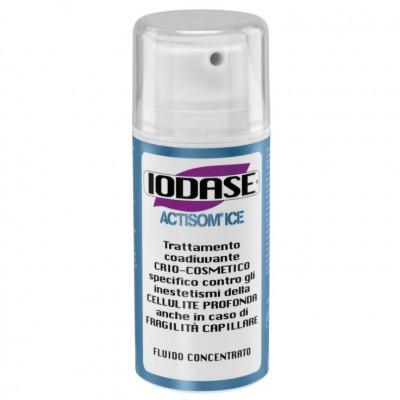 IODASE Сыворотка для тела / Actisom ice fluido concentrato 100 мл~Сыворотки<br>Сыворотка разработана для борьбы с проявлениями локализованной липодистрофии (целлюлит) на поздней стадии при повышенной капиллярной хрупкости. Благодаря изобретению косметических молекул-транспортеров &amp;laquo;ACTISOM&amp;raquo; действующие активные вещества легко впитываются в кожу, борются с проявлениями целлюлита в глубоких слоях кожи (в гиподерме - жировом слое). Эти системы небольших размеров имеют способность включать в себя, переносить и оставлять на глубине действующие активные вещества. Сыворотка IODASE ACTISOM ICE содержит компоненты, которые борются с целлюлитом 3-ей стадии у тех женщин, кому ПРОТИВОПОКАЗАНО использовано разогревающих средств. Мгновенное охлаждающее и освежающее действие на кожу ног.  Активные ингредиенты: Кофеин, фукус пузырчатый, органический йод, эсцин, камелия китайская, масло семян грейпфрута, запатентованный комплекс АКТИСОМ. Способ применения: Массировать зоны голеней, бедер и ягодиц до полного впитывания средства. Постоянное применение крема позволяет достичь значительных результатов в течение 6-8 недель. Использовать строго дважды в день утром и вечером желательно сразу после душа.  Меры предосторожности и противопоказания: Избегать попадания в глаза и на слизистые части, в случае попадания немедленно промыть водой. Предназначено для наружного применения. Хранить в прохладном месте, не доступном для детей. Не применять во время беременности и при грудном вскармливании.<br><br>Вид средства для тела: Охлаждающий<br>Назначение: Целлюлит
