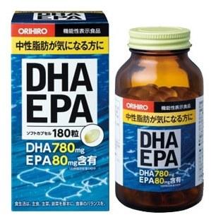 Купить ORIHIRO ДГК и ЭПК с витамином Е, капсулы 180 шт