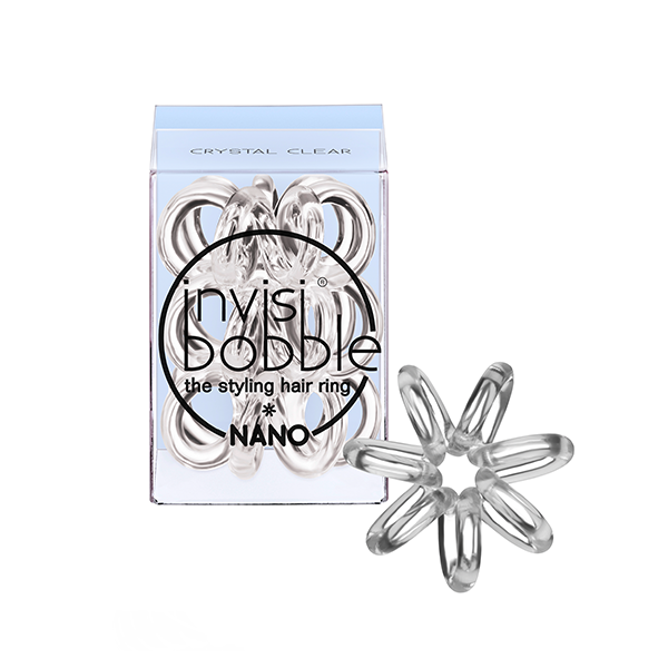 INVISIBOBBLE Резинка-браслет для волос Invisibobble NANO Crystal ClearРезинки<br>Резинка-браслет Invisibobble подходит для повседневного использования, для занятий плаванием, бегом и другими видами спорта. Кроме того, ее можно носить как стильный браслет. Состав:&amp;nbsp;полиуретан.<br>