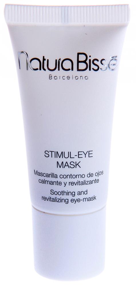 NATURA BISSE Маска для ухода за областью вокруг глаз / Stimul-Eye Mask EYE COUNTOR TREATMENT 15млМаски<br>Stimul-Eye Mask   средство для смягчения и омоложения кожи. Способствует заметному уменьшению  мешков , припухлостей, темных кругов под глазами. Содержит растительные экстракты ромашки, липы, кукурузы и календулы, защищающие кожу от внешних раздражителей, смягчающие, освежающие и придающие чувство комфорта нежной коже вокруг глаз. Масло розового дерева и гиалуроновая кислота восстанавливают увлажненность кожи, а белки пшеницы укрепляют и разглаживают мелкие морщинки. Средство не содержит ароматизаторов. Активные ингредиенты (состав): Water (Aqua), Caprylic/Capric Triglyceride, Glycerin, Polymethyl Methacrylate, Methylsilanol Mannuronate, Glyceryl Stearate, PEG-100 Stearate, Butylene Glycol, Polyacrylamide, Triticum Vulgare (Wheat) Protein, Hypericum Perforatum Flower/Leaf/Stem Extract, Calendula Officinalis Flower Extract, Centaurea Cyanus Flower Extract, Tilia Cordata Flower Extract, Anthemis Nobilis Flower Extract, Chamomilla Recutita (Matricaria) Flower Extract, Bisabolol, C13-14 Isoparaffin, Glyceryl Polyacrylate, Sodium Hyaluronate, Propylene Glycol, Laureth-7, Disodium EDTA, Sorbic Acid, Phenoxyethanol, Sodium Methylparaben, Methylparaben, Butylparaben, Ethylparaben, Propylparaben, Isobutylparaben, Fragrance (Parfum), Linalool, Farnesol. Способ применения: наносить на область вокруг глаз 1-2 раза в неделю. В случае недосыпания и стресса можно увеличить частоту до 4-х раз в неделю. Слегка массировать кожу вокруг глаз с небольшим Stimul-Eye Mask. Оставить на 10-15 минут. Удалить остатки водой при помощи мягкой губки. Дать коже высохнуть и нанести ежедневное средство вокруг глаз.<br><br>Объем: 15<br>Типы кожи: Чувствительная