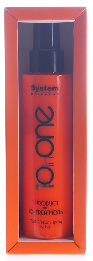 DIKSON Маска-крем спрей / 1One MASK-CREM SPRAY FOR HAIR 10 in 1 150млМаски<br>Маска-крем спрей 1One Mask-Cream Spray For Hair от Dikson - уникальное средство для восстановления волос. Mask-Crem Spray соединяет в себе функции сразу нескольких косметических средств и позволяет сэкономить время на процедурах по уходу за волосами. Средство борется со свободными радикалами, обладает антивозрастными и антиоксидантными фукнциями, защищает волосы при термической обработке, а также от УФ-лучей. Маска-крем превосходно увлажняет, защищает и питает волосы, делая их послушными, эластичными, шелковистыми, устраняя сухость и секущиеся кончики. Результат: 1. Замедляет процесс старения волос. 2 Увлажняет и питает окрашенные и поврежденные волосы от корней до самых кончиков; 3. Защищает цвет волос от UV-излучения; 4. Обладает эффективными термозащитными свойствами; 5. Восстанавливает секущиеся кончики; 6. Устраняет спутанность, облегчает укладку; 7. Фиксирует укладку, усиливая естественный объем; 8. Придает блеск; 9. Разглаживает непослушные завитки, делая кудри более структурированными; 10. Заряжает волосы жизненной энергией. Способ применения:&amp;nbsp;нанесите спрей на влажные или сухие волосы 3-5 нажатиями и приступайте к укладке.<br><br>Назначение: Секущиеся кончики
