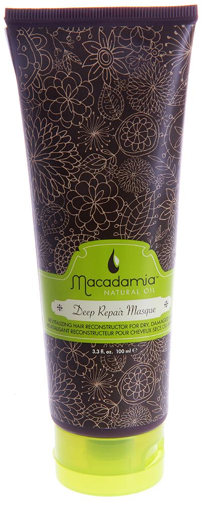 MACADAMIA Natural Oil Маска восстанавливающая интенсивного действия с маслом арганы и макадамии / Deep Repair Masque 100мМаски<br>Оживляющий реконструктор сухих, поврежденных волос. Сочетание масла макадамии и арганы вместе с маслами чайного дерева, ромашки, алоэ и экстрактов водорослей оживляет и восстанавливает волосы, глубоко питая их и возвращая им эластичность и блеск, с пролонгированным кондиционирующим эффектом. Активные ингредиенты: Масло макадамии и арганы, масла чайного дерева, ромашки, алоэ, экстракты водорослей. Способ применения: Распределите небольшое количество маски на чистых, вымытых шампунем и подсушенных полотенцем волосах от корней до кончиков. Оставьте для воздействия на 7 минут. Смойте. Не используйте чаще двух раз в неделю.<br><br>Объем: 100<br>Вид средства для волос: Восстанавливающий