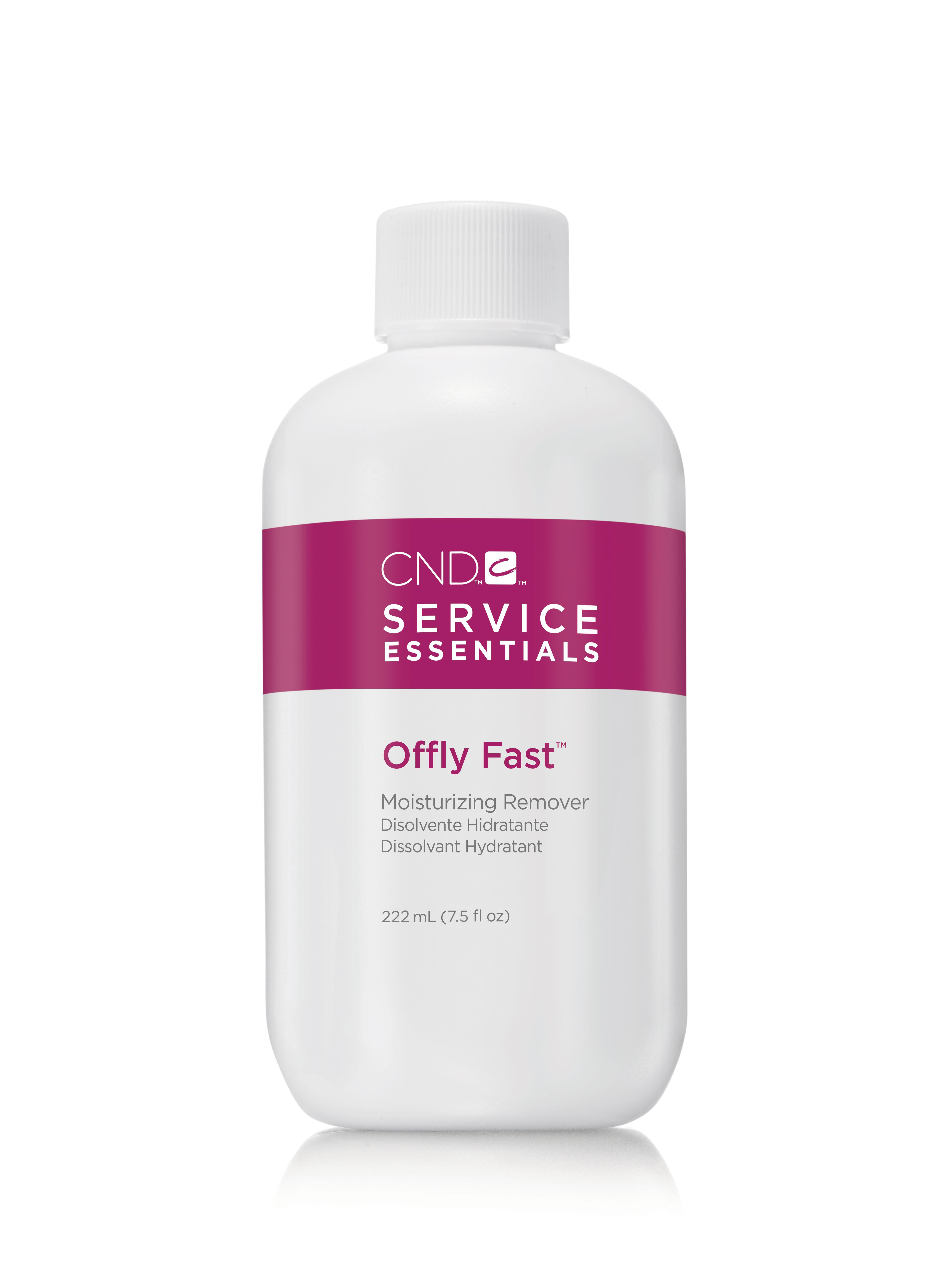 CND Жидкость питательная для удаления искусственных покрытий / Offly Fast 222 мл -  Снятие лака