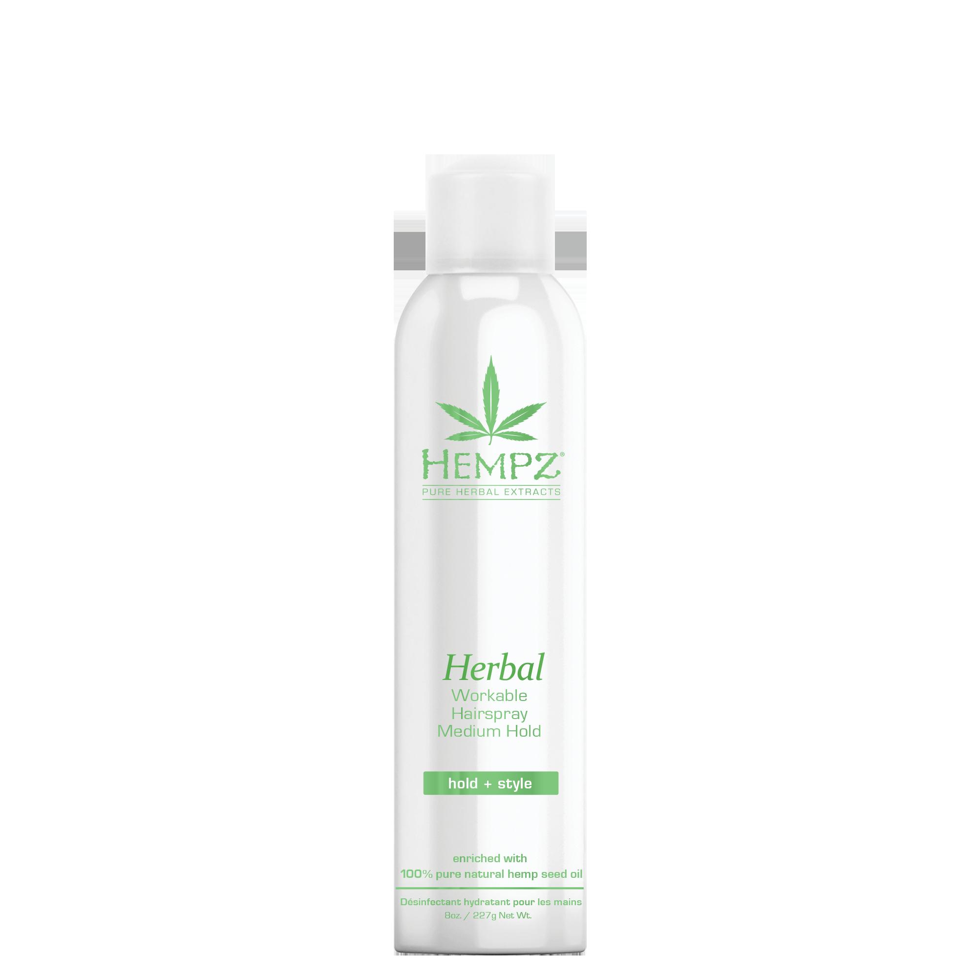 HEMPZ Лак растительный средней фиксации для волос Здоровые волосы / Herbal Workable Hairspray Medium Hold 227 г