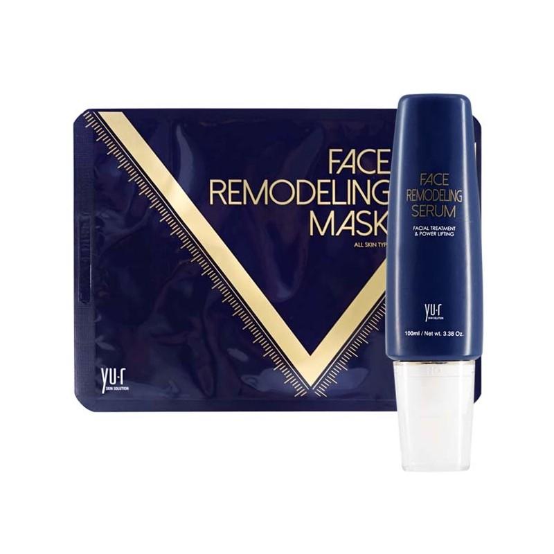 YU.R Набор Программа моделирования овала лица (гель 100 мл, маска 8 шт) / Face Remodeling Mask - Наборы