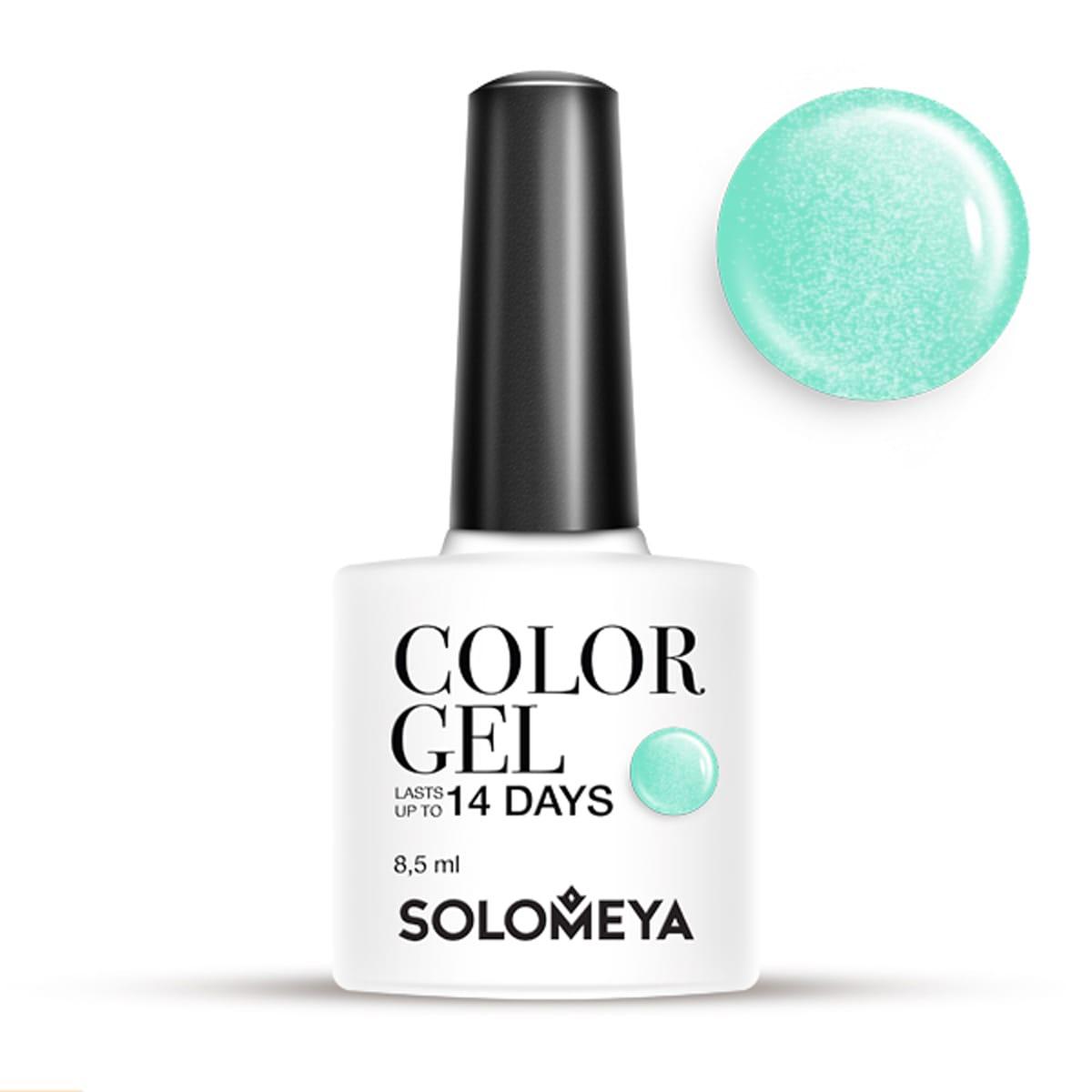 SOLOMEYA Гель-лак для ногтей SCG098 Мята / Color Gel Mint ,5 мл