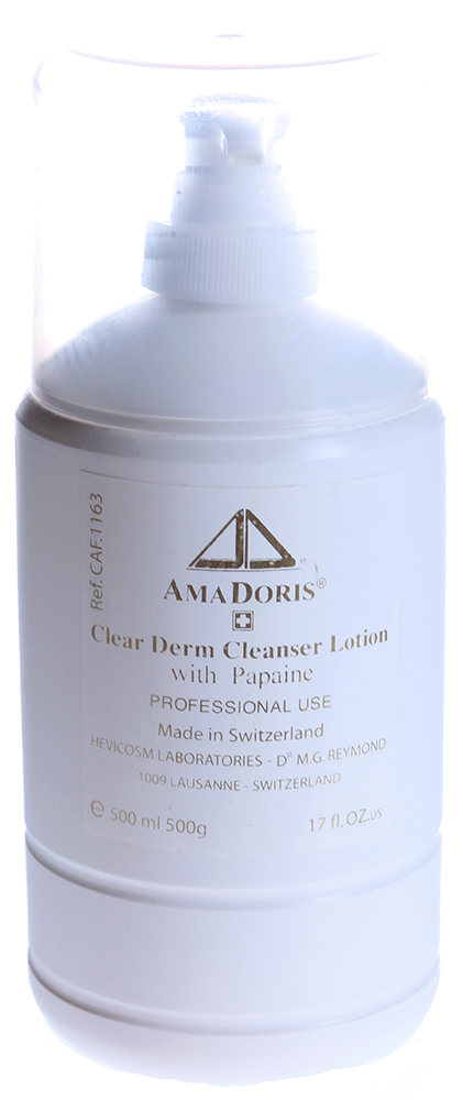 AMADORIS Лосьон очищающий с папаином 500млЛосьоны<br>Очищающий энзимный нежный лосьон для всех типов кожи. Удаляет отмершие клетки эпидермиса, очищает поры, уменьшает явления гиперкератоза. Оказывает легкое отбеливающее действие. Способствует регенерации кожи. Облегчает процедуру механической чистки. Активные ингредиенты: Глицерин, экстракт папайи, экстракт киви, экстракт корня шелковицы, пантенол, лактоза, папаин. Способ применения: Немного средства нанести на кожу лица, шеи и зоны декольте, массировать 1-2 минуты. Смыть водой с помощью спонжей.<br><br>Объем: 500