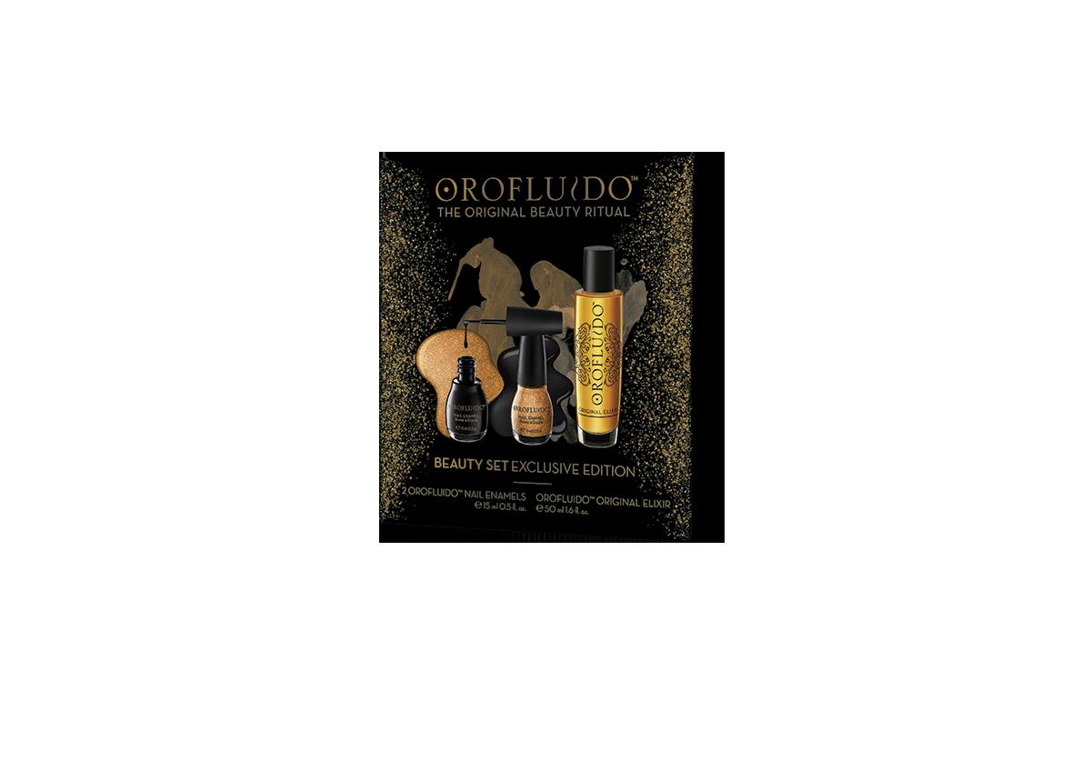 OROFLUIDO Набор подарочный Orofluido (эликсир 50 мл + лаки для ногтей)