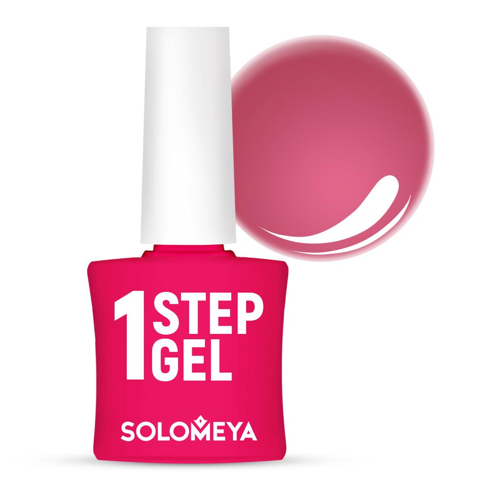 Купить SOLOMEYA Гель-лак однофазный для ногтей, 10 кармин / One Step Gel Carmine 5 мл, Розовые