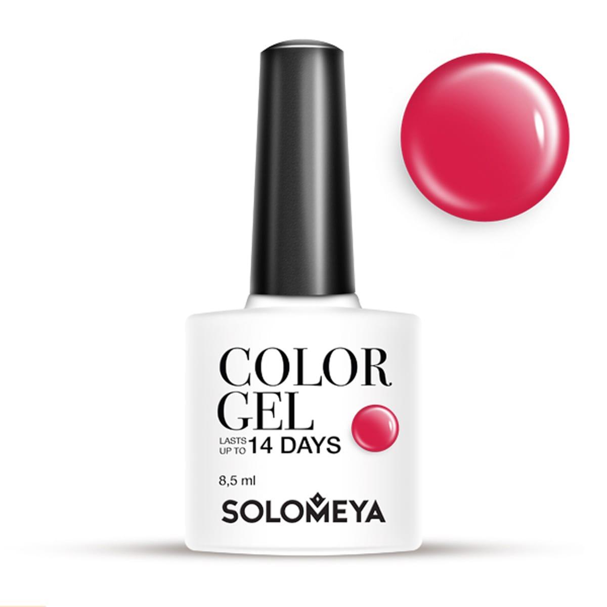 Купить SOLOMEYA Гель-лак для ногтей SCG036 Красный / Color Gel Red 8, 5 мл, Красные