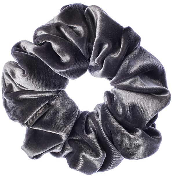 LA FRANCE Резинка бархатная, цвет серый - Резинки