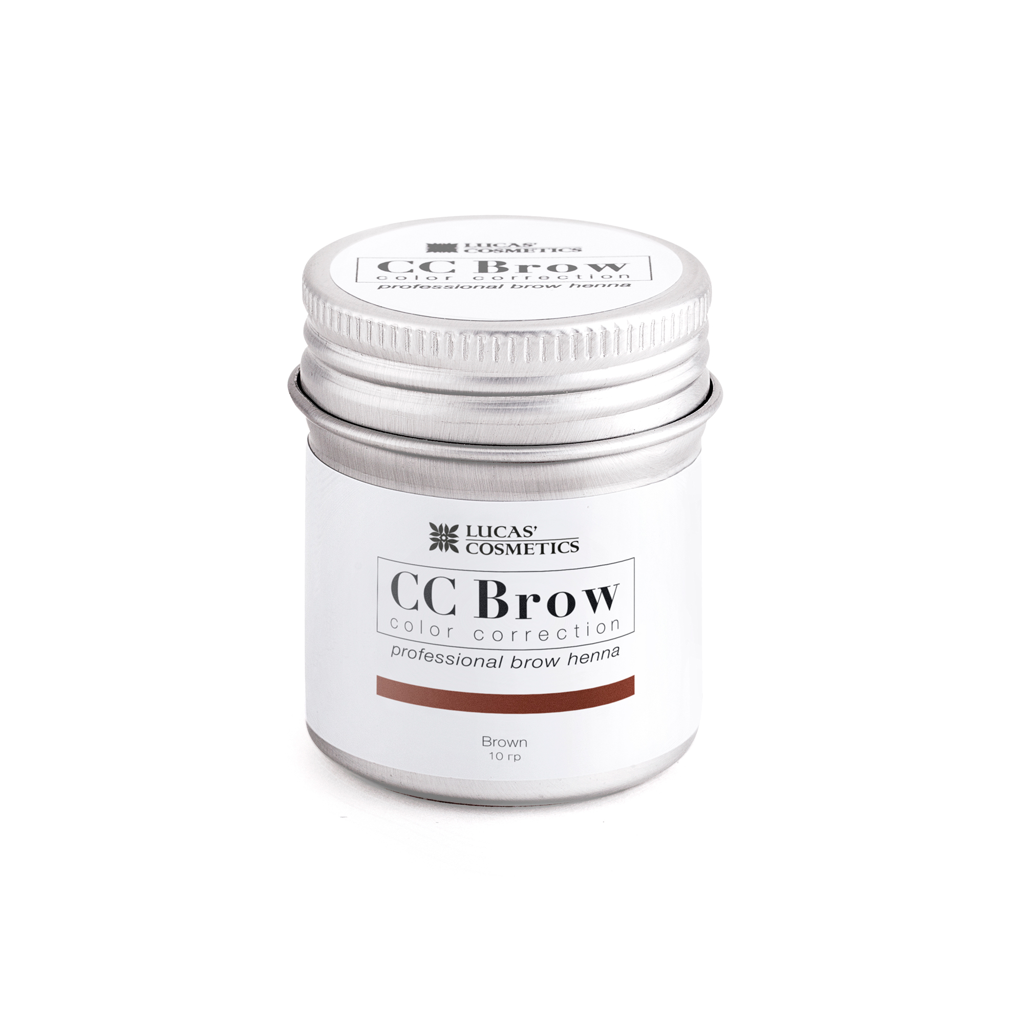 LUCAS' COSMETICS Хна для бровей в баночке (коричневый) / CC Brow (brown), 10 гр