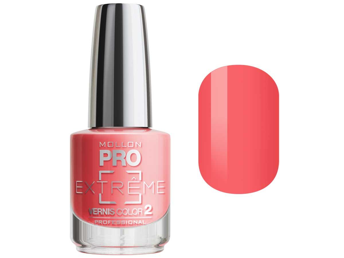 MOLLON PRO Покрытие для ногтей цветное / Extreme Vernis Color  16 10млЛаки<br>Mollon PRO EXTREME 3 STEPS VERNIS   это инновационная, трехфазная система для стилизации ногтей. Благодаря формуле, обогащенной полимерами, продукты высыхают при естественном освещении, что позволяет сохранить эффект супер блеска на ногтях до 10 дней. Продукты наносятся как классический лак для ногтей, смываются жидкостью для снятия лака с ацетоном без компресса. EXTREME VERNIS COLOR COAT 2 - основной цвет очень гибкий, быстро сохнет и дает интенсивный цвет уже после первого цветного слоя. Способ нанесения: - Сделайте маникюр и обезжирьте ногтевую пластину. - Нанесите базу Mollon PRO Extreme Base Smooth Coat -1, дайте просохнуть 1 минуту. - Нанесите два слоя цветного лака Mollon PRO Extreme -2, интервал между слоями 2 минуты. - Покройте сверху закрепителем Mollon PRO Extreme Gloss Top Coat -3. - Оставьте на 10 минут для высыхания. Для снятия покрытия используйте жидкость для снятия лака.<br><br>Цвет: Оранжевые<br>Класс косметики: Профессиональная<br>Виды лака: Глянцевые