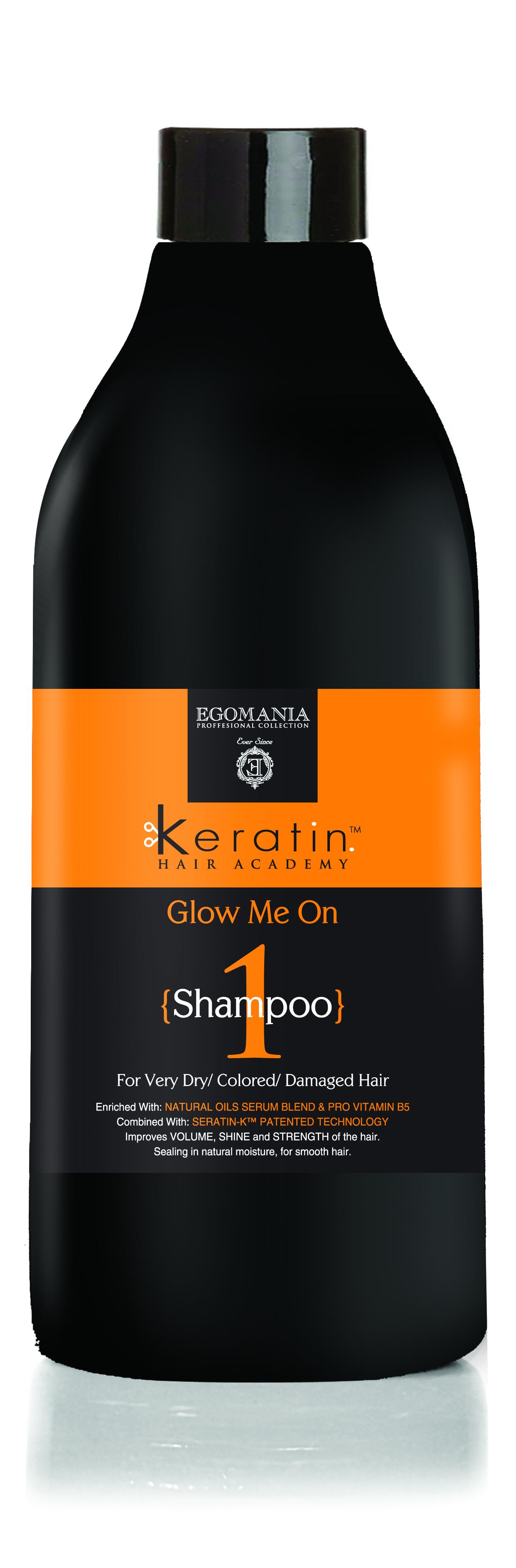 EGOMANIA Шампунь для очень сухих, окрашенных и поврежденных волос Во всем блеске! / KERATIN 1000мл
