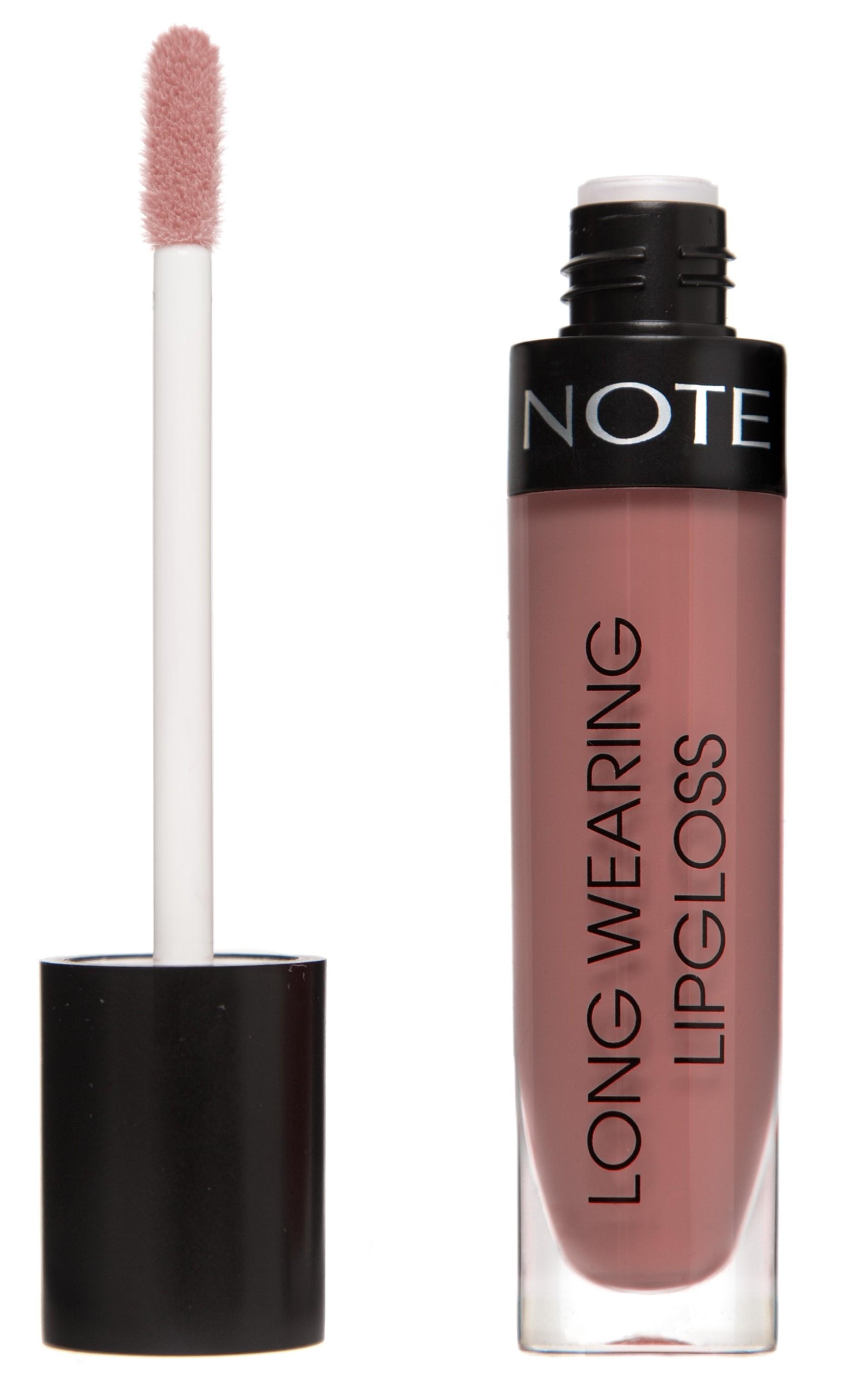 Купить NOTE Cosmetics Блеск стойкий для губ 19 / LONG WEARING LIPGLOSS 6 мл