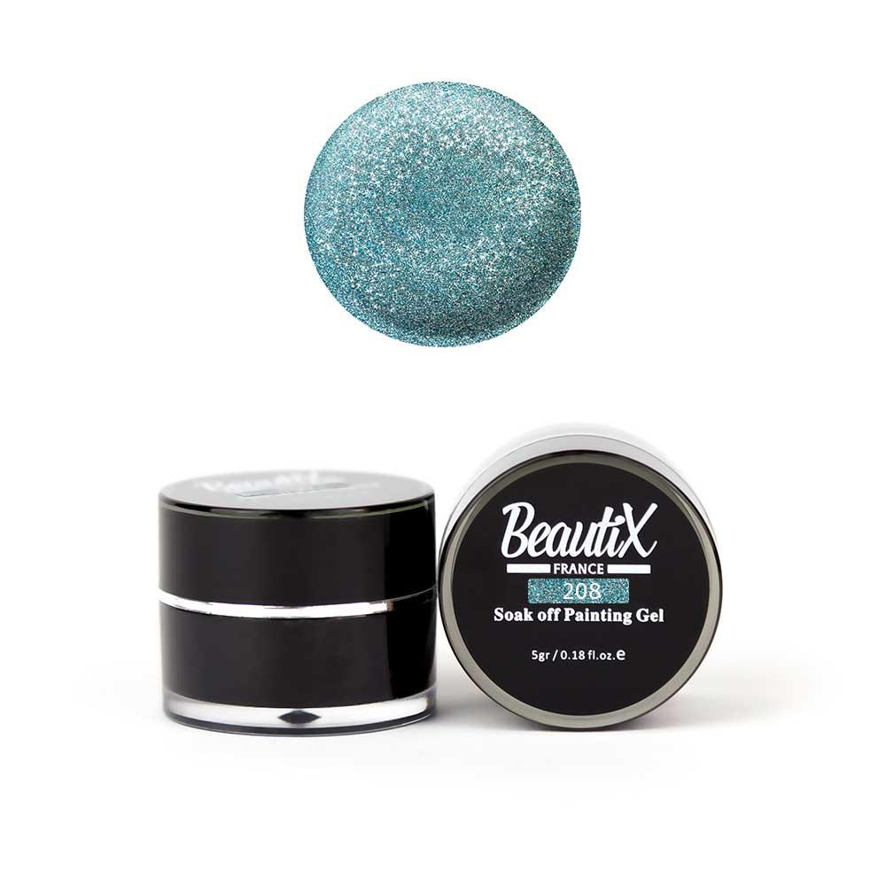 Купить BEAUTIX Глиттер среднезернистый, 208 цвет морской волны / Gel Painting Glitz 5 г