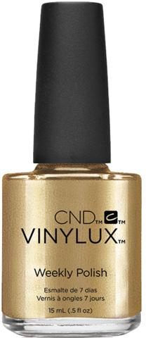 CND 229 лак недельный для ногтей Brass Button / VINYLUX 15млЛаки<br>Инновационный лак, который наносится без базы, быстро высыхает, становится прочнее с каждым днём носки и держится на ногтях целую неделю без сколов и отслаивания. Цветное покрытие, разработанное по системе 2 в 1: выполняет роль и базового слоя, и декоративного лака. Патентованный механизм адгезии, входящий в цветное покрытие, работает как якорь или двухсторонний скотч, склеивая кератин натурального ногтя и пигменты, и одновременно создавая барьер для проникновения последних на поверхность натурального ногтя. Способ применения: встряхните флакон перед использованием. Нанесите на чистые сухие ногти 2 слоя цветного покрытия. Затем нанесите верхнее покрытие-закрепитель системы VINYLUX. ВНИМАНИЕ!!!&amp;nbsp;Не используйте базовое покрытие! Активные ингредиенты: не содержит дибутилфталат, толуол, формальдегид и его смолы.<br><br>Цвет: Желтые
