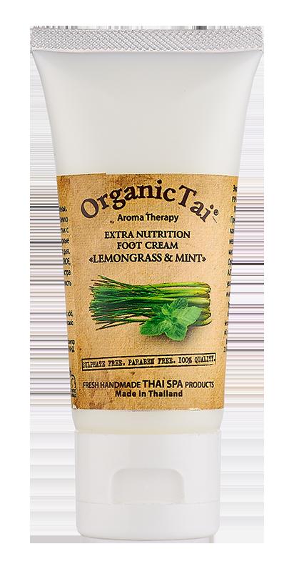 ORGANIC TAI Крем экстраувлажняющий для ног Лемонграсс и мята 60мл organic tai массажное масло для лица жасмин жожоба и сладкий миндаль 120 мл