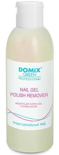 DOMIX Жидкость для снятия лака с гелевых ногтей / Nail Gel Polish Remover DGP 200 мл