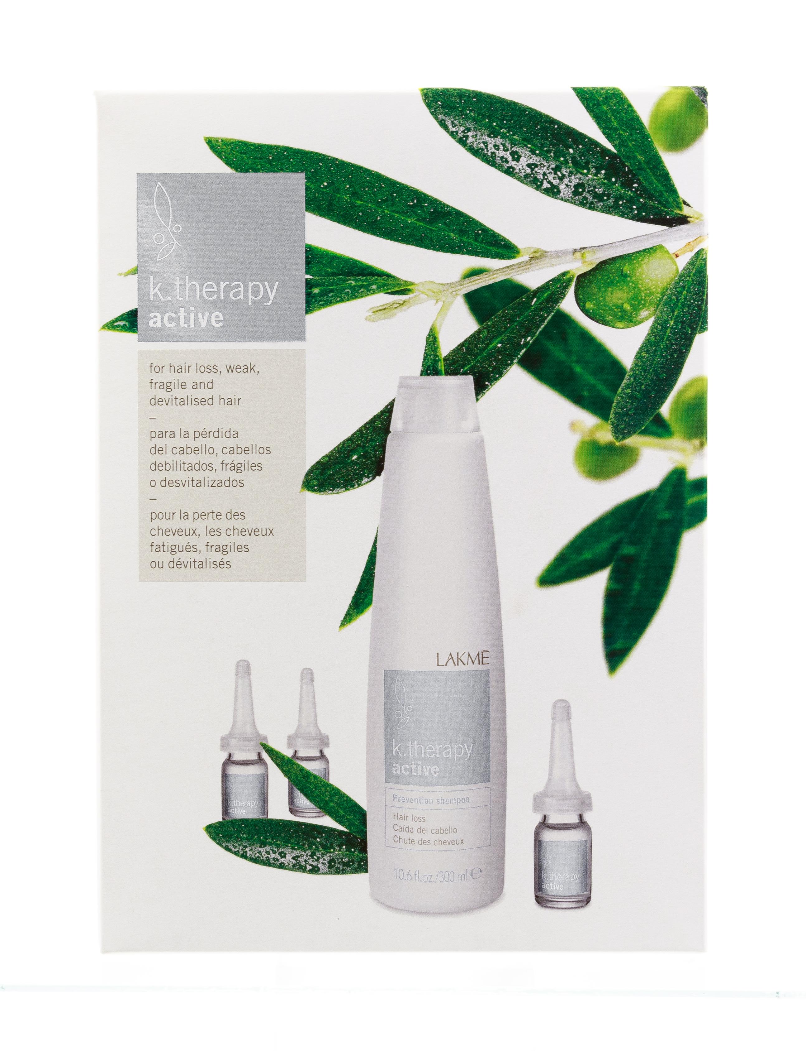 LAKME Набор для укрепления и роста волос (шампунь 300 мл, ампулы 8 х 6 мл) K.Therapy Active Pack