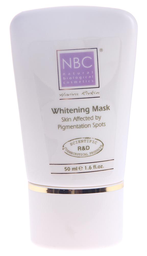 NBC Haviva Rivkin Маска отбеливающая / Whiteninq Mask 50млМаски<br>Очищает поры, дезинфицирует, окисляет меланин, осветляет пигментные пятна.Активные ингредиенты: салициловая, гликолевая, койевая кислоты, бисаболол, алантоин, тальк, каолин, крахмал, окись цинка, смола ели, алюминиум силикате, алюминиум цитрате, витамин С, перекись водорода.Способ применения: нанести непрозрачным слоем на кожу на 30 минут (при необходимости только на пигментное пятно). Тщательно смыть водой, протереть соответствующим тоником, нанести Морковный крем.<br><br>Вид средства для лица: Отбеливающий<br>Назначение: Пигментация