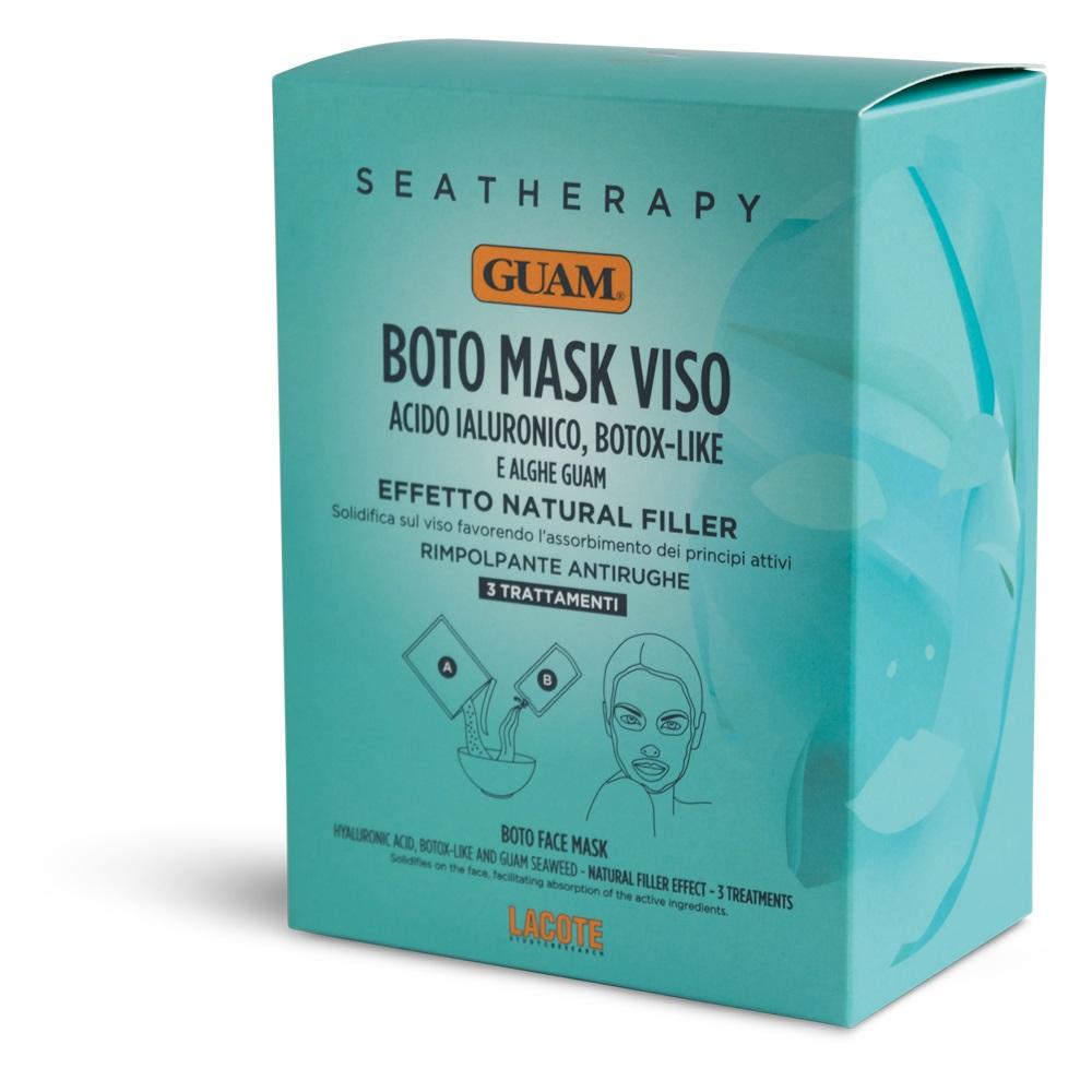 Купить GUAM Маска для лица с гиалуроновой кислотой и водорослями Ботокс эффект / SEATHERAPY (3 х 20 г + 40 мл)