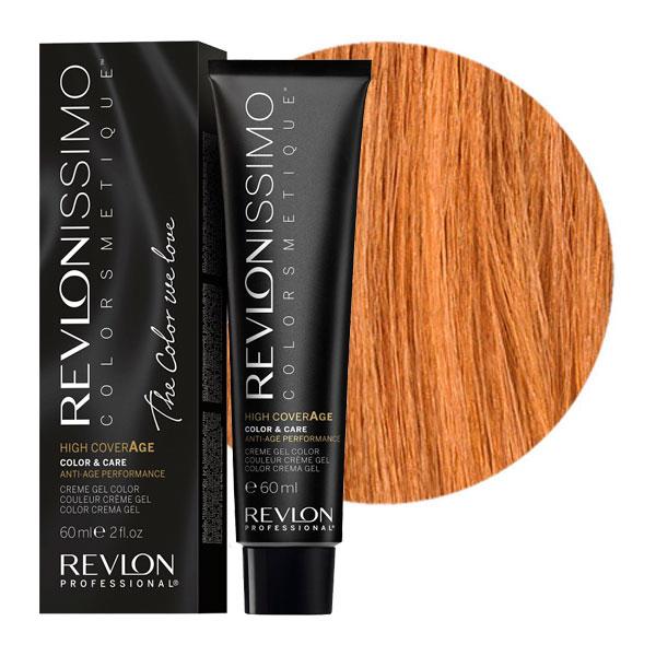 REVLON Professional 8-34 краска для волос, ореховый светлый блондин / RP REVLONISSIMO COLORSMETIQUE High Coverage 60 мл краски для волос revlon professional краска для волос rp revlonissimo colorsmetique 5sn светло коричневый супернатуральный