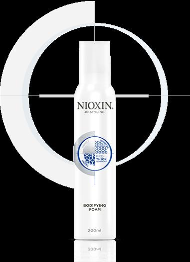 NIOXIN Мусс для объема подвижной фиксации 200млМуссы<br>Мусс помогает создать на тонких волосах объемную укладку с подвижной фиксацией. Полимерные микрочастицы, содержащиеся в составе средства, увеличивают диаметр истонченных волос, придавая им визуальный объем и густоту. NIOXIN 3D Стайлинг - новая линия укладочных средств. Дополняет трехступенчатые системы ухода NIOXIN по решению проблем тонких волос и является четвертым шагом на пути к густым и объемным волосам.Основа 3D Стайлинга Объем &amp;amp; Фиксация - современная технология Pro-Thick. Pro-Thick - комплекс уплотняющих полимерных микрочастиц, обволакивающих каждый волос невесомой оболочкой без утяжеления. Волосы визуально становятся объемнее и гуще. Кроме этого, между волосами образуются невидимые прочные и эластичные связи, которые сохраняют объем и форму прически. Протестирован дерматологами. Активные ингредиенты: современная технология Pro-Thick - комплекс уплотняющих полимерных микрочастиц, обволакивающих каждый волос невесомой оболочкой без утяжеления. Способ применения: нанесите на влажные/подсушенные полотенцем волосы и уложите феном для увеличения объема. Средства Линии 3D Стайлинг рекомендуется совмещать с препаратами трехступенчатой системы NIOXIN для усиления действия и пролонгации их активных компонентов.<br><br>Типы волос: Тонкие