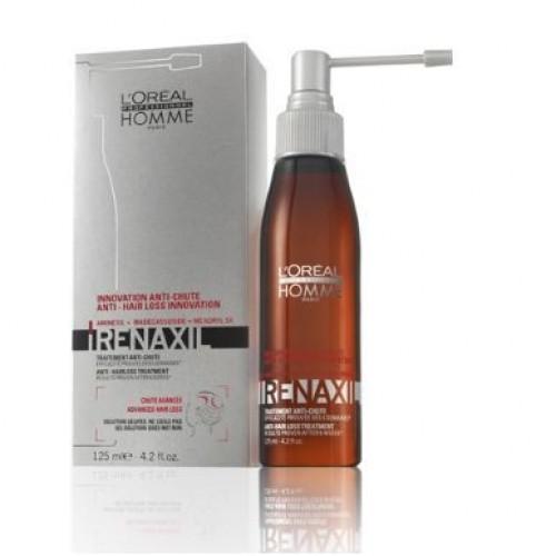 LOREAL PROFESSIONNEL Уход от выпадения волос Ренаксил / HOMME 125млВолосы<br>Уход против прогрессирующего выпадения волос доказанные результаты после 6 недель. Защищен 2-мя патентами. Помогает смягчить кожу головы и сократить потерю волос. Легкий в использовании спрей помогает сконцентрироваться на определенных зонах, чтобы обеспечить более целенаправленное распределение активных ингредиентов. Активный состав: Комплекс AMINEXIL+ MADECASSOSIDE + MEXORYLSX. Применение: Наденьте распылитель на флакон. Нанесите на влажные или сухие волосы. Используйте в качестве интенсивного ухода: каждый день в течении 6 недель. Используйте в качестве поддерживающего ухода: 3 раза в неделю в течение 6 недель.<br><br>Объем: 125<br>Пол: Мужской