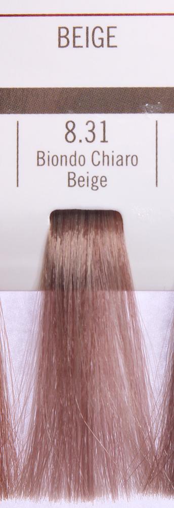 BAREX 8.31 краска для волос / PERMESSE 100млКраски<br>Оттенок: Светлый блондин бежевый. Профессиональная крем-краска Permesse отличается низким содержанием аммиака - от 1 до 1,5%. Обеспечивает блестящий и натуральный косметический цвет, 100% покрытие седых волос, идеальное осветление, стойкость и насыщенность цвета до следующего окрашивания. Комплекс сертифицированных органических пептидов M4, входящих в состав, действует с момента нанесения, увлажняя волосы, придавая им прочность и защиту. Пептиды избирательно оседают в самых поврежденных участках волоса, восстанавливая и защищая их. Масло карите оказывает смягчающее и успокаивающее действие. Комплекс пептидов и масло карите стимулируют проникновение пигментов вглубь структуры волоса, придавая им здоровый вид, блеск и долговечность косметическому цвету. Активные ингредиенты:&amp;nbsp;Сертифицированные органические пептиды М4 - пептиды овса, бразильского ореха, сои и пшеницы, объединенные в полифункциональный комплекс, придающий прочность окрашенным волосам, увлажняющий и защищающий их. Сертифицированное органическое масло карите (масло ши) - богато жирными кислотами, экстрагируется из ореха африканского дерева карите. Оказывает смягчающий и целебный эффект на кожу и волосы, широко применяется в косметической индустрии. Масло карите защищает волосы от неблагоприятного воздействия внешней среды, интенсивно увлажняет кожу и волосы, т.к. обладает высокой степенью абсорбции, не забивает поры. Способ применения:&amp;nbsp;Крем-краска готовится в смеси с Молочком-оксигентом Permesse 10/20/30/40 объемов в соотношении 1:1 (например, 50 мл крем-краски + 50 мл молочка-оксигента). Молочко-оксигент работает в сочетании с крем-краской и гарантирует идеальное проявление краски. Тюбик крем-краски Permesse содержит 100 мл продукта, количество, достаточное для 2 полных нанесений. Всегда надевайте подходящие специальные перчатки перед подготовкой и нанесением краски. Подготавливайте смесь крем-краски и молочка-оксигента Permesse в нем