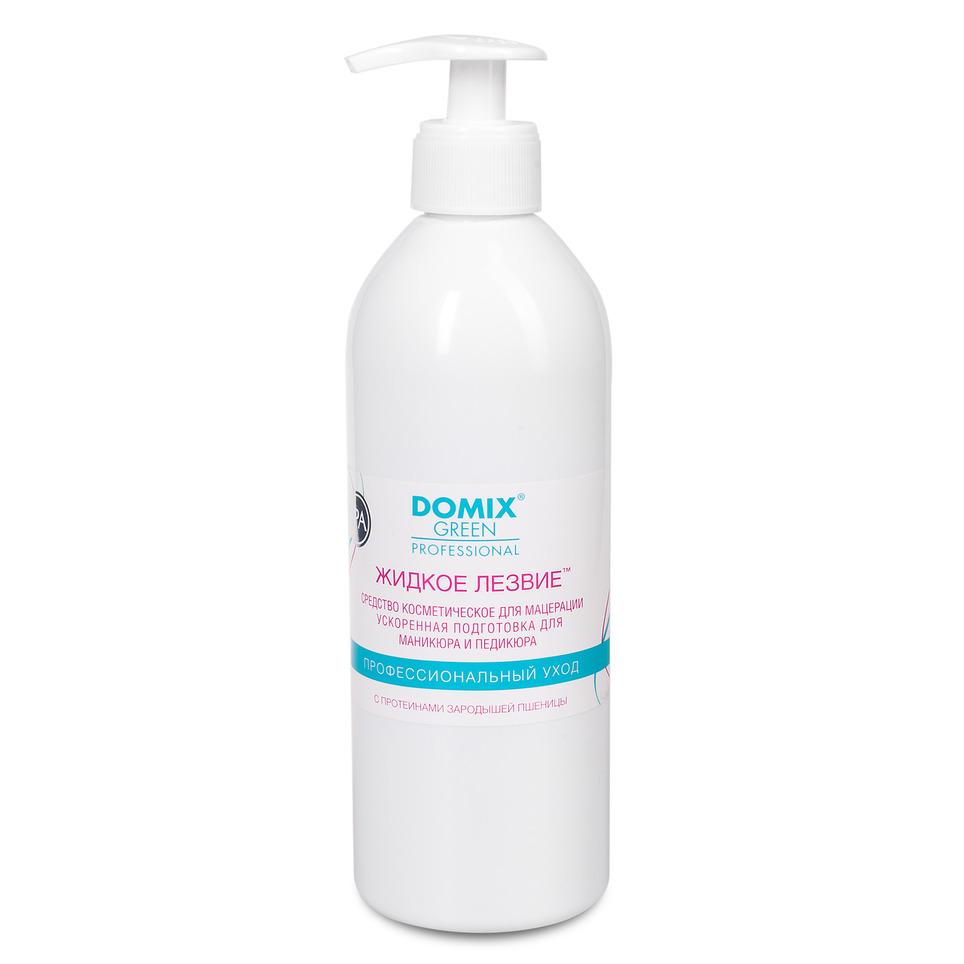 DOMIX GREEN PROFESSIONAL Средство для ванночек Жидкое лезвие / DGP 500 мл - Размягчители для педикюра