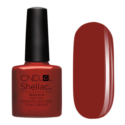 CND 91251 покрытие гелевое Brick Knit / SHELLAC 7,3мл cnd 083 покрытие гелевое bare chemise shellac 7 3мл