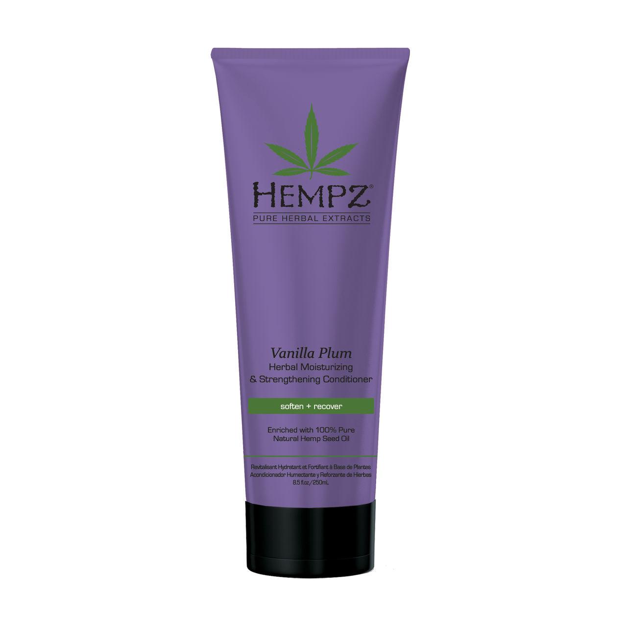 HEMPZ Кондиционер растительный увлажняющий и укрепляющий Ваниль и Слива / Plum Herbal Moisturizing 265мл