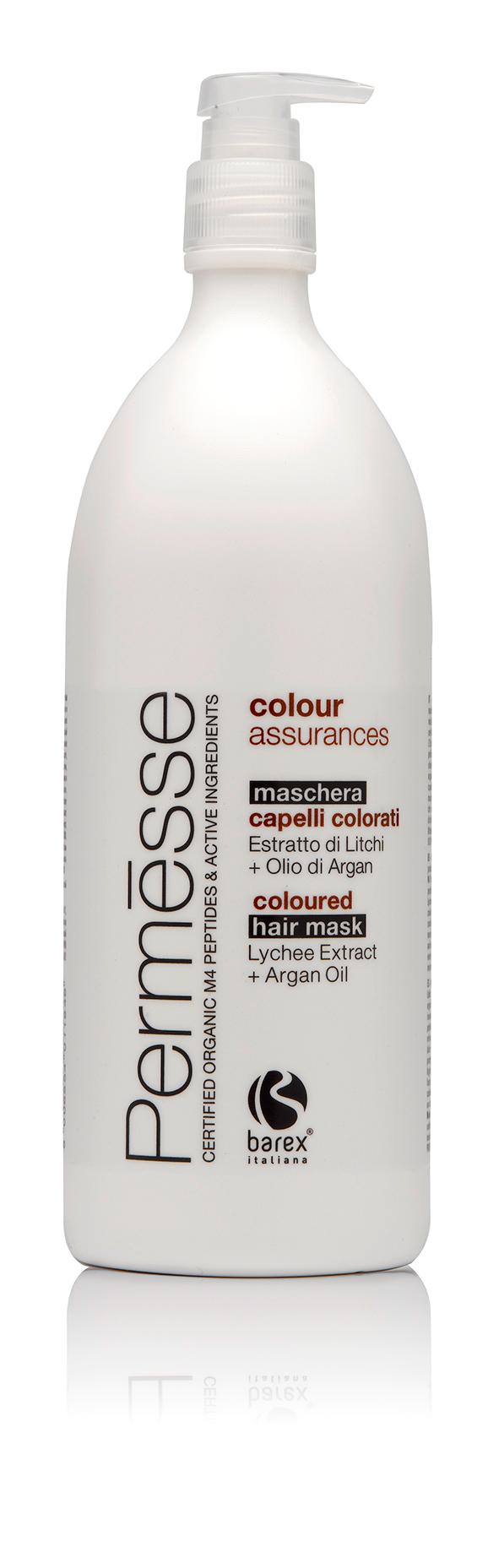BAREX Маска для окрашенных волос с экстрактом личи и маслом арганы / PERMESSE 1000мл