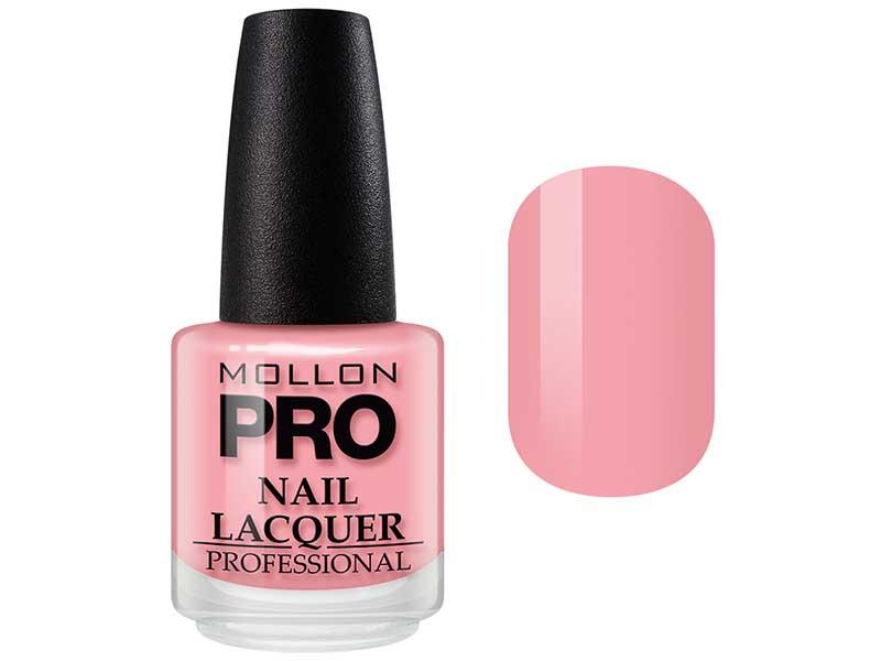 MOLLON PRO Лак для ногтей с закрепителем / Hardening Nail Lacquer  180 15млЛаки<br>Профессиональный лак для ногтей с усиленным блеском.&amp;nbsp;Яркий, соблазнительный и удобный в применении лак, созданный по безопасной формуле Save and Care, не содержит дибутилфталата, толуола, формальдегида и надолго сохраняет эстетический вид.&amp;nbsp;Входящая в состав лака специальная формула с содержанием кальция, фосфора и цинка оказывает восстанавливающую, ухаживающую и защитную функцию для ногтей. Профессиональная кисточка великолепно распределяет лак на ногтевой пластинке, не оставляя разводов. Способ применения: чтобы продлить стойкость стилизации, необходимо применить Base Coat Nail Repair перед нанесением лака, затем 2 слоя Nail Lacquer и Top Coat Quick Dryer.<br><br>Цвет: Розовые<br>Класс косметики: Профессиональная<br>Виды лака: Глянцевые