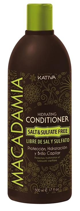 Купить KATIVA Кондиционер интенсивный увлажняющий для нормальных и поврежденных волос / MACADAMIA 500 мл
